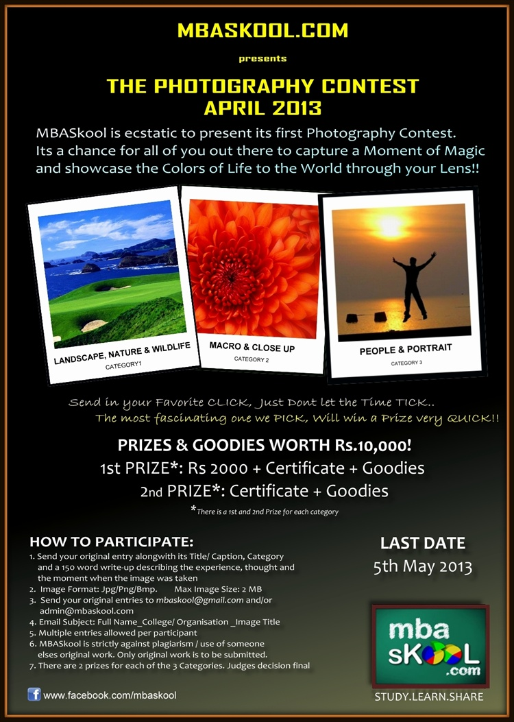 mbaskool photography contest april 2013
