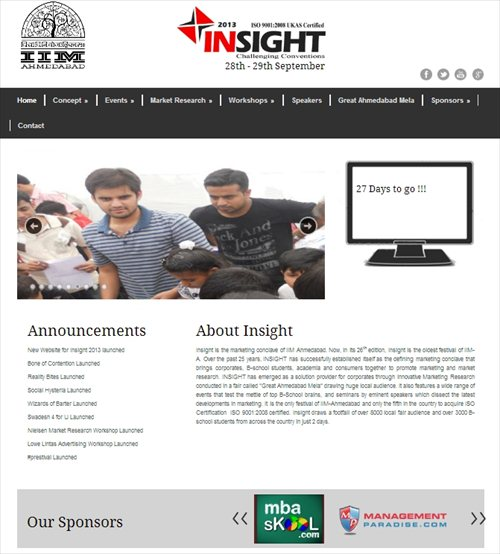 MBASkool as a sponsor of IIMA Insight
