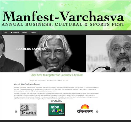 IIM Lucknow Manfest website
