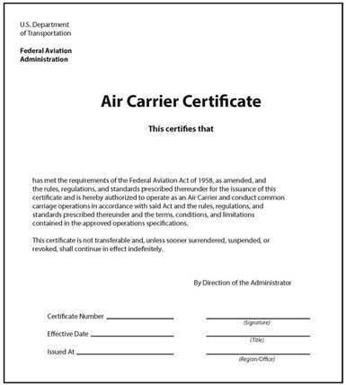 Carrier Certificate and Release Order Definition | Operations ...