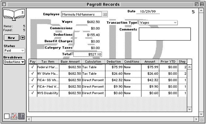 Payroll Records Definition Human Resources Hr