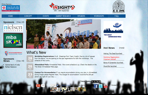 IIMA Insight 2012 Website