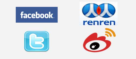 RenRen and Sina vs Facebook and Twitter