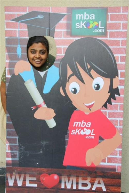 MBASkool Standee at Melange 2012